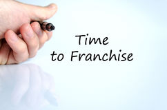 Time to franchise text concept. Over white background royalty free stock photography