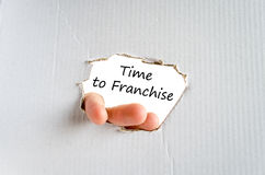 Time to franchise text concept Royalty Free Stock Image