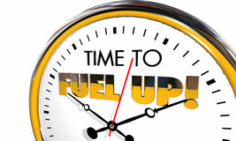 Time to Fuel Up Energize Clock Nutrition Eat Stock Images