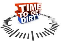 Time to get dirty Royalty Free Stock Images