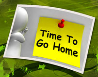 Time To Go Home Photo Means Leaving Drunk Or Goodbye Royalty Free Stock Photography