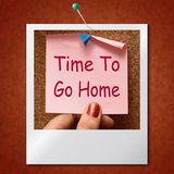 Time To Go Home Photo Means Leaving Drunk Or Goodbye. Time To Go Home Photo Meaning Leaving Drunk Or Goodbye Royalty Free Stock Image