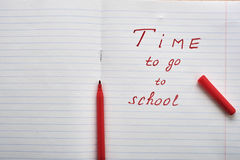 Time to go to school Stock Photo