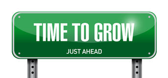 Time to grow road sign illustration design Stock Photos