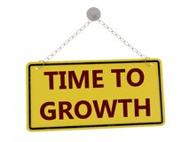 Time to growth sign vector illustration