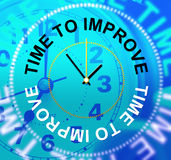 Time To Improve Means Improvement Plan And Growth. Time To Improve Representing Improvement Plan And Enhance royalty free illustration