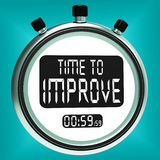 Time To Improve Message Means Progress And Improvement Stock Images