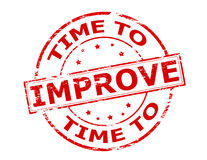 Time to improve. Rubber stamp with text time to improve inside, illustration royalty free illustration