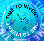 Time To Invent Indicates Conception Make And Innovations Stock Photos
