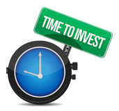 Time to invest concept illustration design Stock Photos