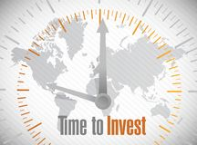 Time to invest illustration design Royalty Free Stock Image