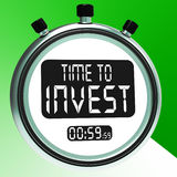 Time To Invest Message Shows Growing Wealth And Savings Stock Image