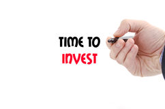 Time to invest text concept. Isolated over white background Royalty Free Stock Photo