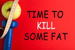 Time To Kill Some Fat. Text. Motivational fitness quote. Concept sport, diet, fitness, healthy eating royalty free stock photography