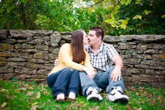 A Time to Kiss Royalty Free Stock Photography