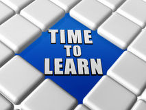 Time to learn in boxes Royalty Free Stock Photos