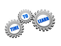 Time to learn in grey gears Stock Images