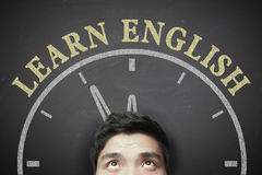 Time To Learn English Concept Royalty Free Stock Photo