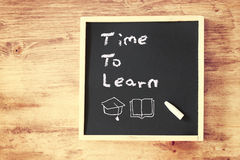 Time to learnconcept written on blackboard Stock Photo