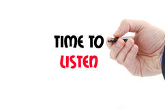 Time to listen text concept Royalty Free Stock Photo