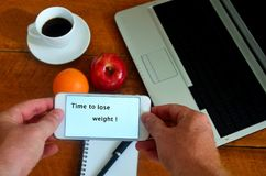 Time to lose weight. Royalty Free Stock Images