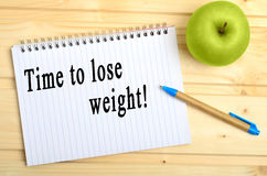 Time to lose weight words Stock Photo
