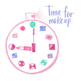 Time to make up. Design elements for advertising of cosmetics.  Stock Photography