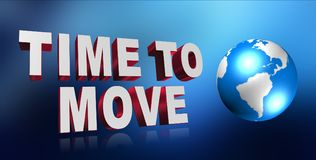 Time to move background Royalty Free Stock Photography