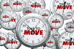 Time to Move Clocks Flying By Royalty Free Stock Photo