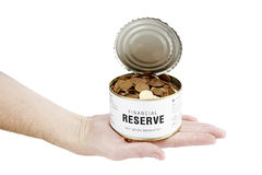 Time to open reserves - Crisis. Metaphor for financial crisis in business Stock Photo