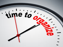 Time to organize. An image of a nice clock with time to organize Stock Photos
