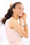 Time to party .Women wear their earrings Stock Images