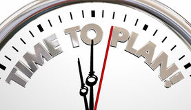 Time to Plan Clock Project Strategy Goal Stock Image