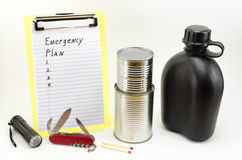 Prepare. The time to plan for an emergency is before disaster strikes Stock Images