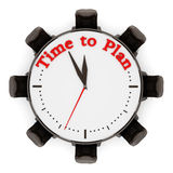 Time to plan sentence on the clock with chairs. 3D illustration Royalty Free Stock Images