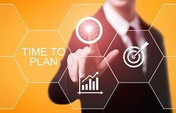 Time To Plan Strategy Success Project Goal Business Technology Internet Concept Royalty Free Stock Image