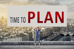 Time to plan royalty free stock images