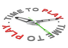 Time to play. Play time having fun playing a game or sport during vacation or leisure time Stock Photography