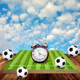 Time to play soccer concept Stock Photo