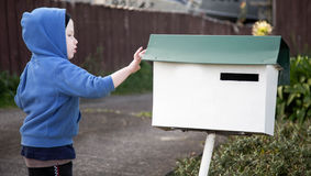 Time to post the mail. Royalty Free Stock Photo