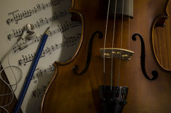 Time to practice violin Stock Images
