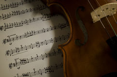 Time to practice violin Royalty Free Stock Image