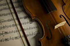 Time to practice violin Stock Photos