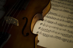 Time to practice violin Stock Photo