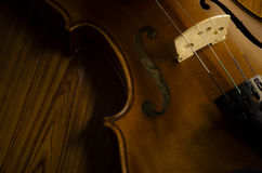 Time to practice violin Stock Image