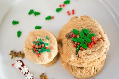 Christmas Cookies. Time to put all the festive color of Christmas on the cookies Stock Photography