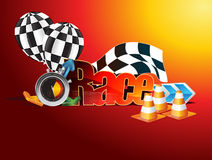 Time to race. Illustration which can be used for racing event.Vector format available as well Royalty Free Stock Images