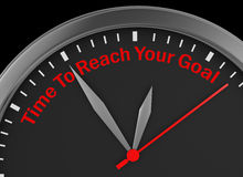 Time to reach your goal Stock Image
