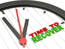 Time to recover stock illustration