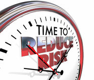 Time to Reduce Risk Clock Mitigation Danger Stock Image